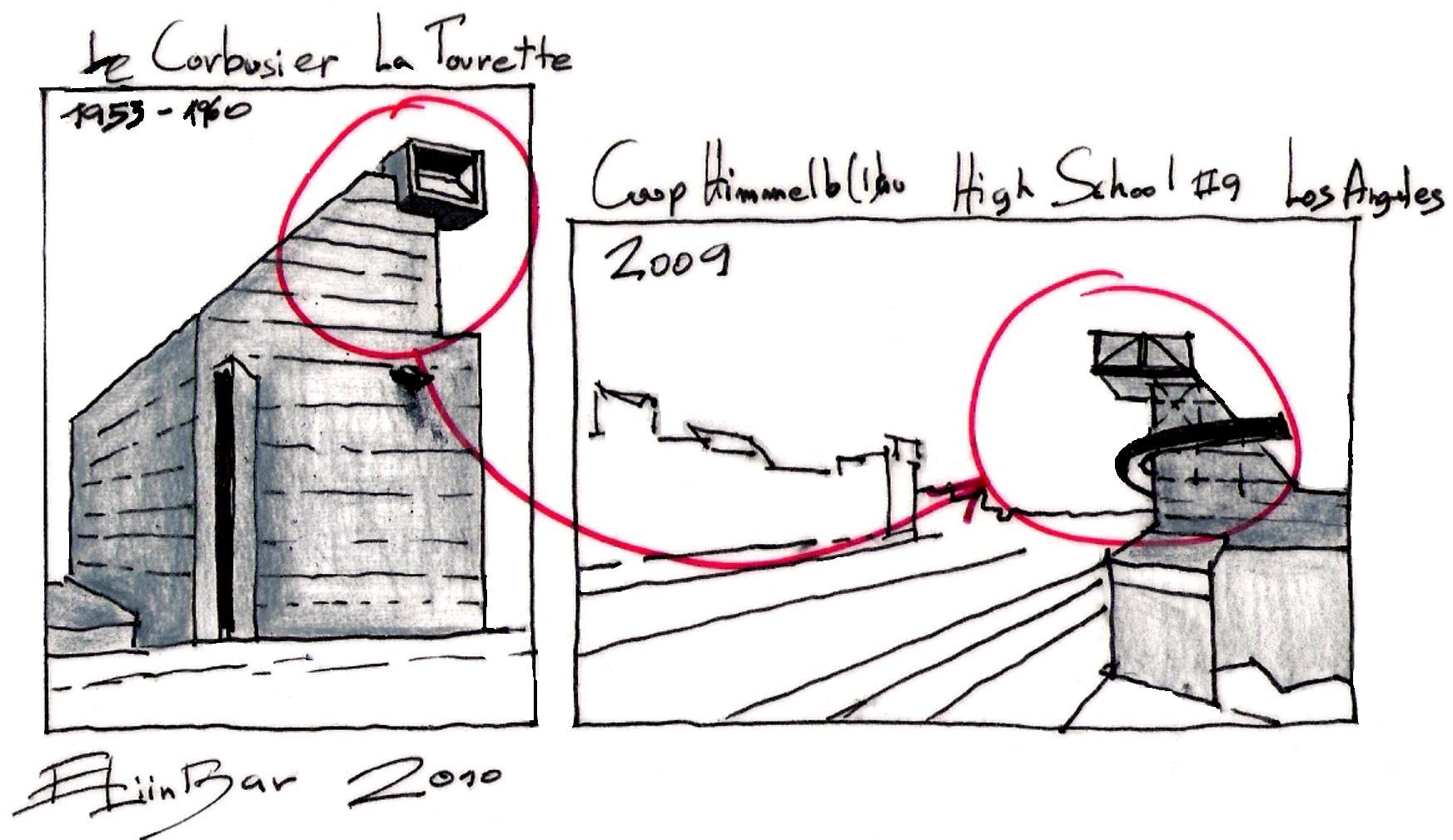 Couvent de la Tourette par Le Corbusier La-tourette-eliinbar-sketches-20100002