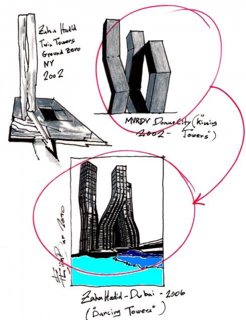 Zaha Hadid The Dancing Towers Concept Someone Has