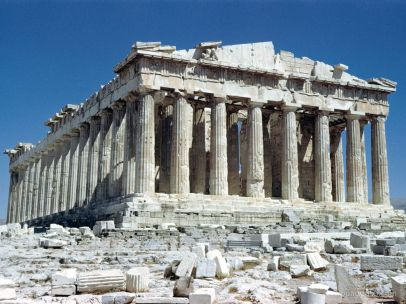 optical illusions of the parthenon