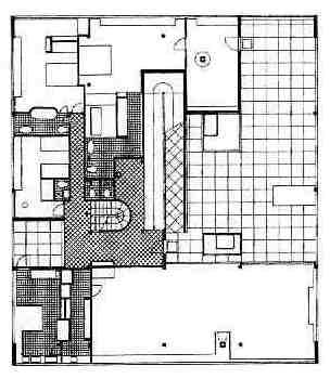Le Corbusier   s Villa Savoye     First floorVilla Savoye 2nd Floor Plan