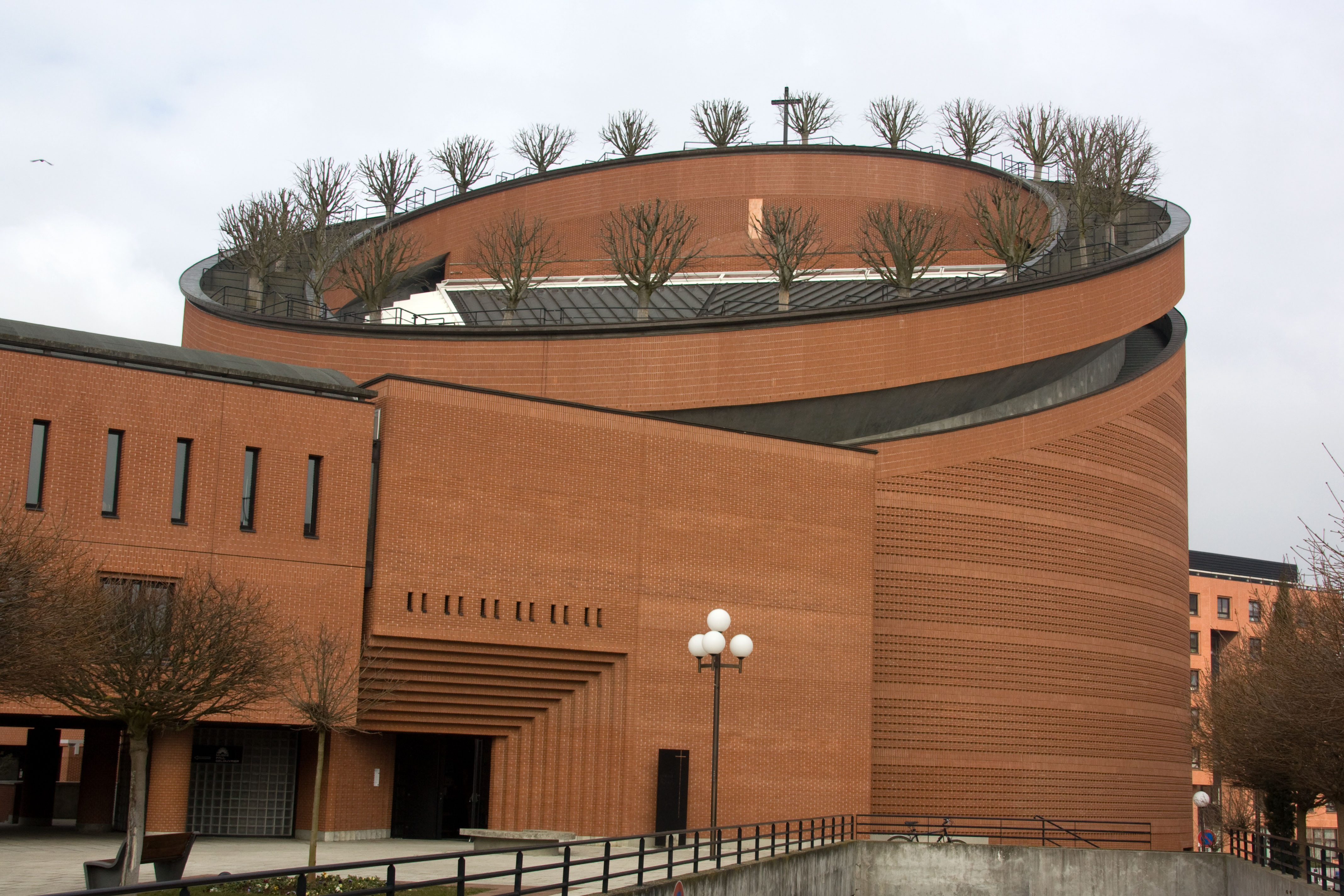 Evry France  City new picture : Mario Botta Architect Evry Cathedral, Evry, France Completion 1996