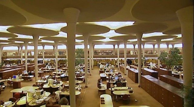 Johnson wax headquarters building someone has built it before - Frank lloyd wright designs ...