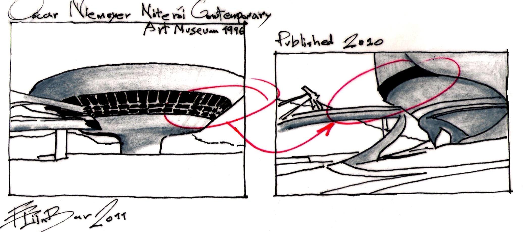 Oscar Niemeyer Eliinbar Sketches 20110001 Someone Has