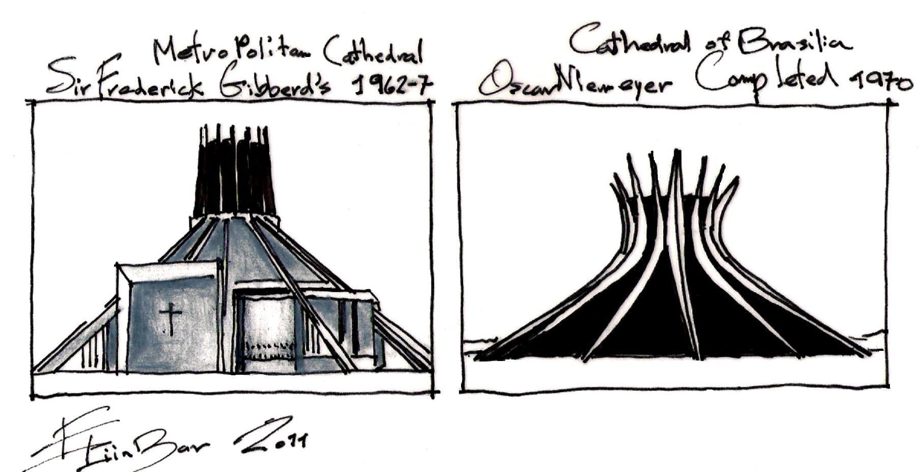 Oscar Niemeyer F Giibberd Eliinbar Sketches 20110001