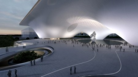 National Museum of China competition entry from 2012,  Designed by MAD Architects