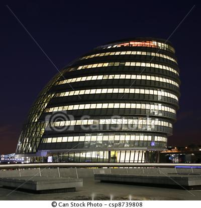 Norman Foster and Ken Shuttle worth architects London City Hall  2002
