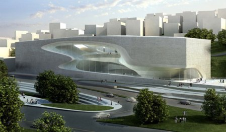 Zaha Hadid Architect  King Abdullah II house of Culture and Art _ Amman _ 2010