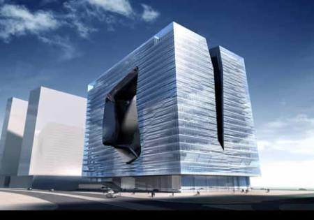 Zaha Hadid Architect  The Opus Commercial Towers _ Dubai _ 2007