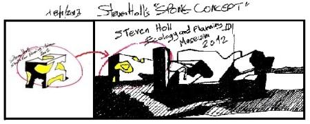 "Eliinbar's Sketch book 2012 – Steven Holl's ""Sponge Concept"" 2012"