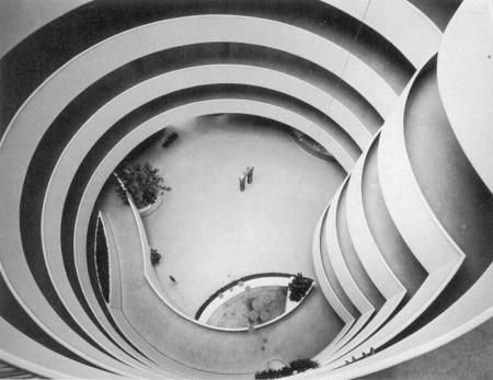 Frank Lloyd Wright  Architect Guggenheim Museum interior 1959
