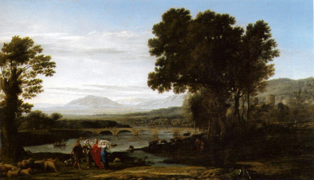 Claude Gelle'e's painting from 1654