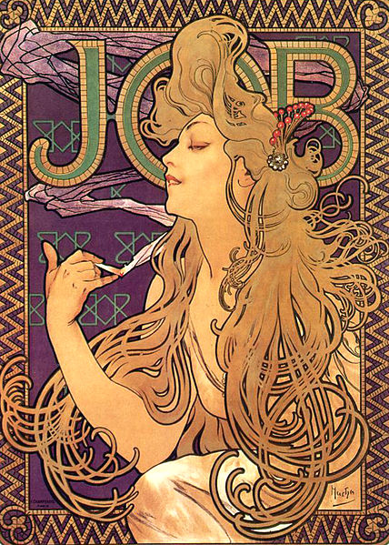Alphonse Mucha - Job Cigarettes 1898
