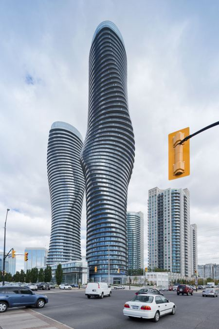Absolute Towers Residential condominiums in Mississauga, Ontario designed by MAD Architects in  2010