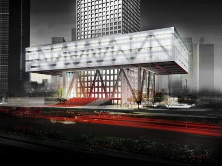 OMA's stock exchange in Shenzhen Chaina, competition: 1st prize 2006