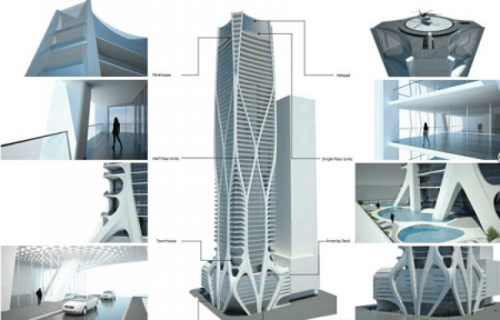 Zaha Hadid's Sci-Fi Miami Condo Tower ,  Published in ARCHITIZER March 20, 2013