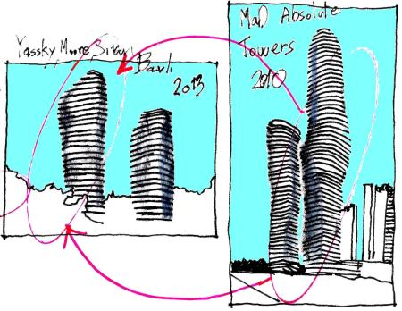 EliInbar's sketches 2013 - MAD Architects Absolute Towers