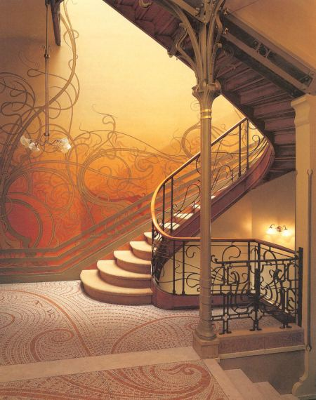 The next image is a  typical Art Nouveau intirior