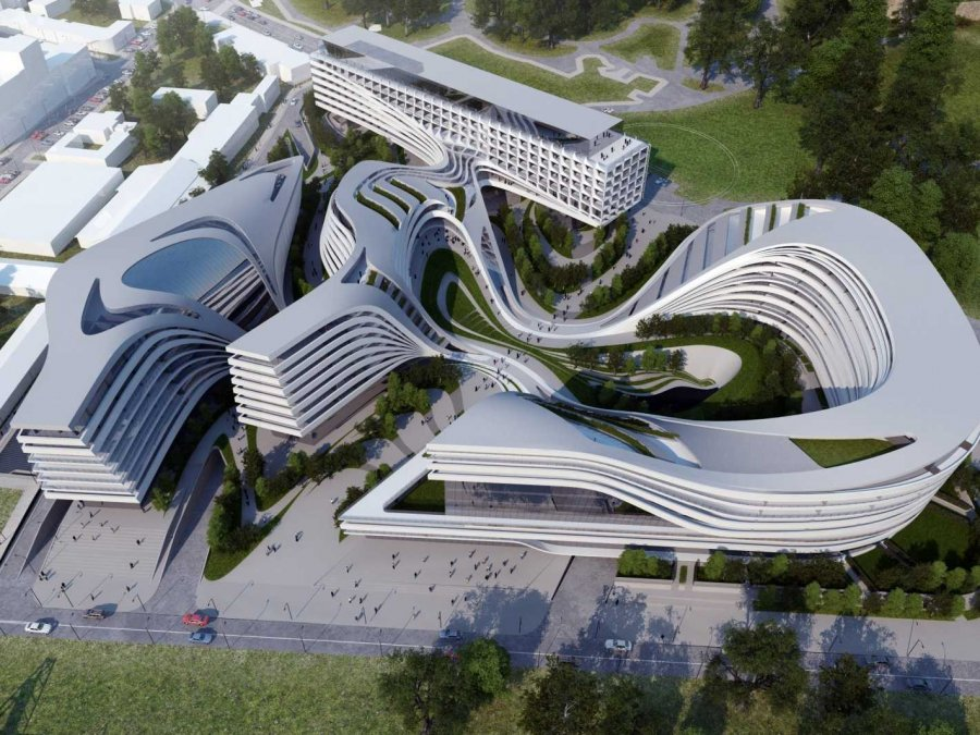 Zaha hadid and the liquid buildings trend someone has for Architecture textile