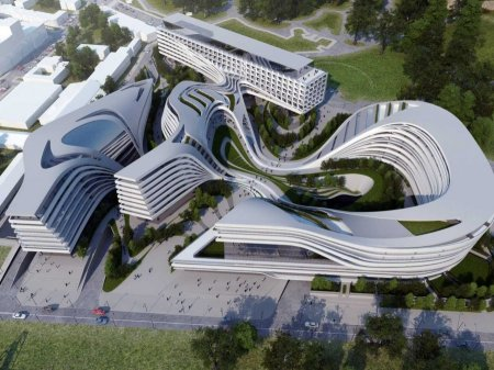Zaha Hadid Architects Defunct Factory In Downtown Belgrade published 2012