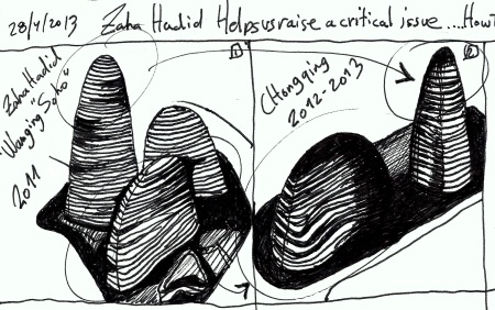"Eliinbar's Sketches 2013-Zaha Hadid and the ""Copy Paste"" Syndrom"