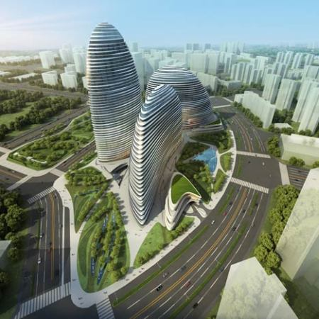 Zaha Hadid Architect Wangjing SOHO China published 2011