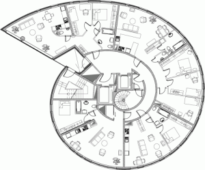 Snailtower typical floor plan