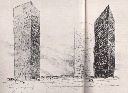 Three Towers  for La defense – France- Emile Aillaud Architect-1978