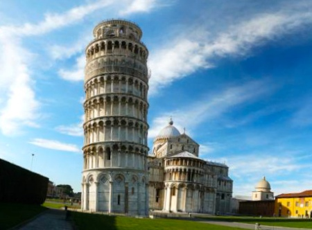 the Pisa tower