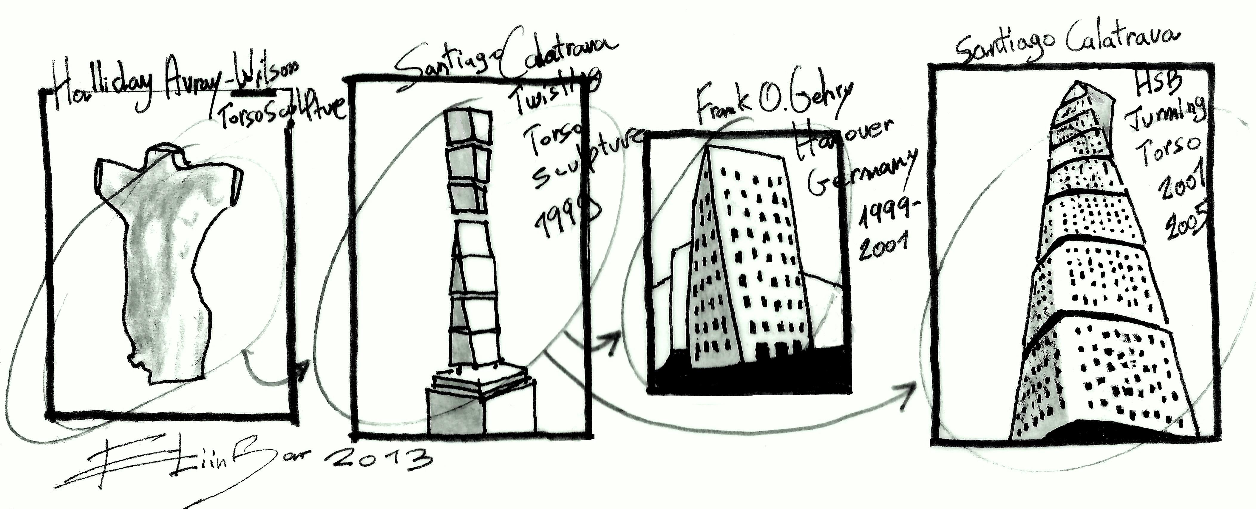 Santiago calatrava Eliinbar Sketches
