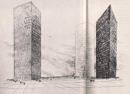Three Towers for La defense- Emile Aillaud Architect-1978