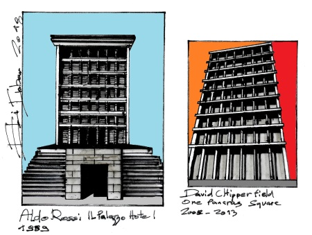 Eliinbar Sketches 2018 Aldo Rossi & David Chipperfield